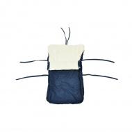 Śpiwór ogrzewacz dla dzieci na sanki niebieski