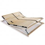Stelaż do łóżka z 28 listwami, drewno FSC, 7 stref, 100x200 cm