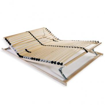 Stelaż Do łóżka Z 28 Listwami Drewno Fsc 7 Stref 100x200 Cm