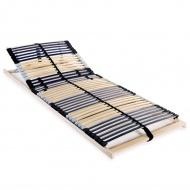 Stelaż do łóżka z 42 listwami, drewno FSC, 7 stref, 70x200 cm