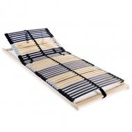 Stelaż do łóżka z 42 listwami, drewno FSC, 7 stref, 80x200 cm