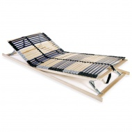 Stelaż do łóżka z 42 listwami, drewno FSC, 7 stref, 90x200 cm