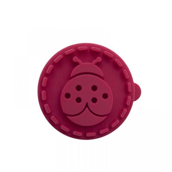Stempel drewniany do ciastek mini Biedronka Birkmann czerwony 340 336
