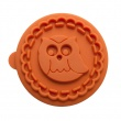 Stempel drewniany do ciastek Sowa Birkmann Owls pomarańczowy 340 183