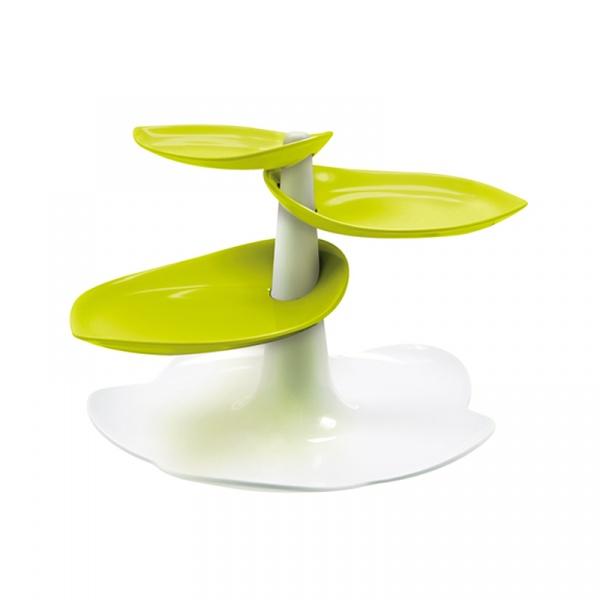 Stojak na łakocie Zak! Designs Sweety duży biało-zielony 1283-N870