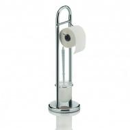 Stojak na szczotkę do WC i papier toaletowy Kela Fabio srebrny