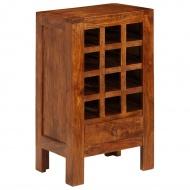 Stojak na wino, lite drewno akacjowe, 50 x 37 x 90 cm, brązowy