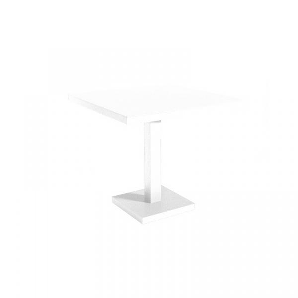 Stół Barcino 90x90 cm z bazą centralną - biały DK-28321