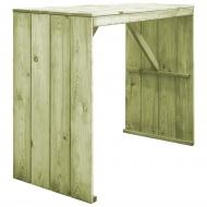Stół barowy, impregnowane drewno sosnowe FSC, 130x60x110 cm