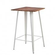 Stół Barowy Paris Wood biały sosna
