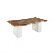 Stół do jadalni 200x100 Quentin Design orzech na skórzanych nogach