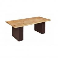 Stół do jadalni 200x100cm Quentin Design modrzew na skórzanych nogach