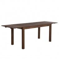 Stół do jadalni drewno ciemnobrązowy 180 x 85 cm 2 przedłużki MAXIMA