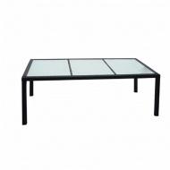 Stół jadalniany do ogrodu, rattan PE 190 x 90 x 75 cm, czarny