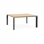 Stół Kokoon Design Efyra 160x160 cm jasnobrązowy nogi czarne