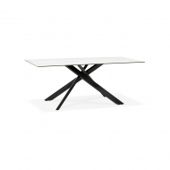 Stół Kokoon Design Viedma 180x90 cm biały nogi czarne