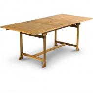 Stół ogrodowy 150-200x90x75cm Fieldmann brązowy