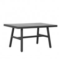 Stół ogrodowy czarny CANETTO