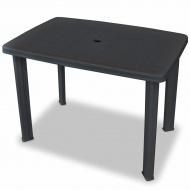 Stół ogrodowy, plastik, antracytowy, 101 x 68 x 72 cm