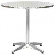 Stół ogrodowy, srebrny, 80 cm, aluminiowy