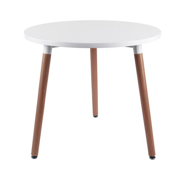 Stół okrągły do jadalni 80cm D2 Copine biały  5902385711005