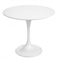 Stół okrągły do jadalni 90 cm D2 Fiber biały