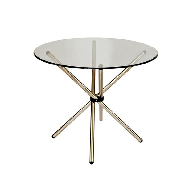 Stół okrągły do jadalni 90cm D2 Ufo szklany 5902385704106