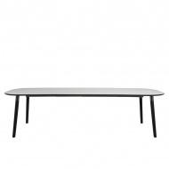 Stół rozkładany 75x180x100 cm Actona Pippolo czarno-biały