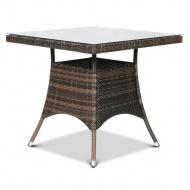 Stół z technorattanu Lugo 80x80 : Kolor - Modern Brown