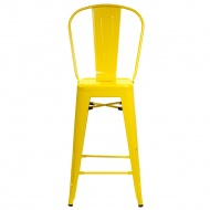 Stołek barowy D2 ParisBack żółty