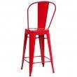 Stołek barowy ParisBack czerwony inspiro wany Tolix DK-41435