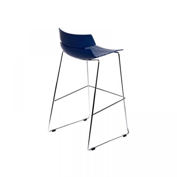 Stołek barowy Techno niebieski DK-40571