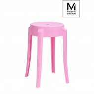 Stołek Calmar Modesto Design różowy