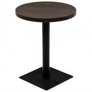 Stolik bistro z MDF, stalowa podstawa, 60x75 cm, ciemny jesion