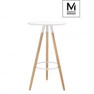 Stolik Dipp Modesto Design biały-podstawa bukowa