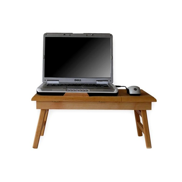 Stolik do laptopa z szufladką Comfortable 15 naturalny CT-1520