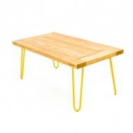 Stolik kawowy 100x65x45cm Gie El żółty