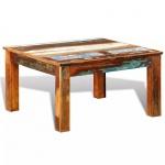 Stolik kawowy kwadratowy z drewna odzyskanego