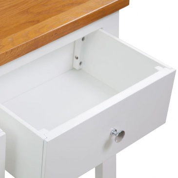 Stolik konsola, 83 x 30 x 73 cm, drewno dębowe