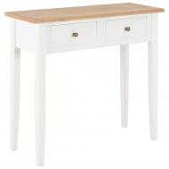 Stolik konsolowy, biały, 79x30x74 cm, drewniany