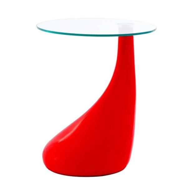 Stolik Lounge Tear czerwony DK-24548