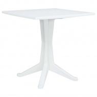 Stolik ogrodowy, 70x70x71,7 cm, plastikowy, biały