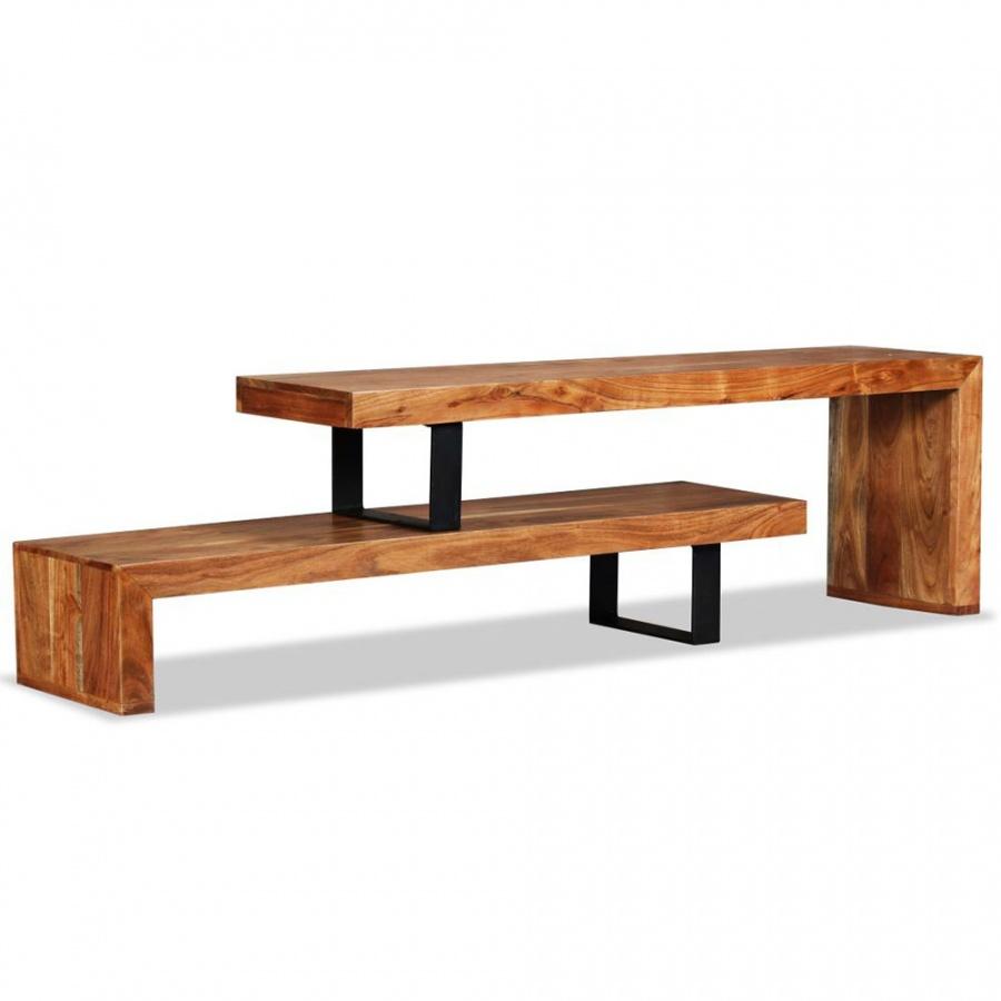 Stolik pod telewizor, lite drewno akacjowe kod: V-244583 + Z NAMI NIE RYZYKUJESZ