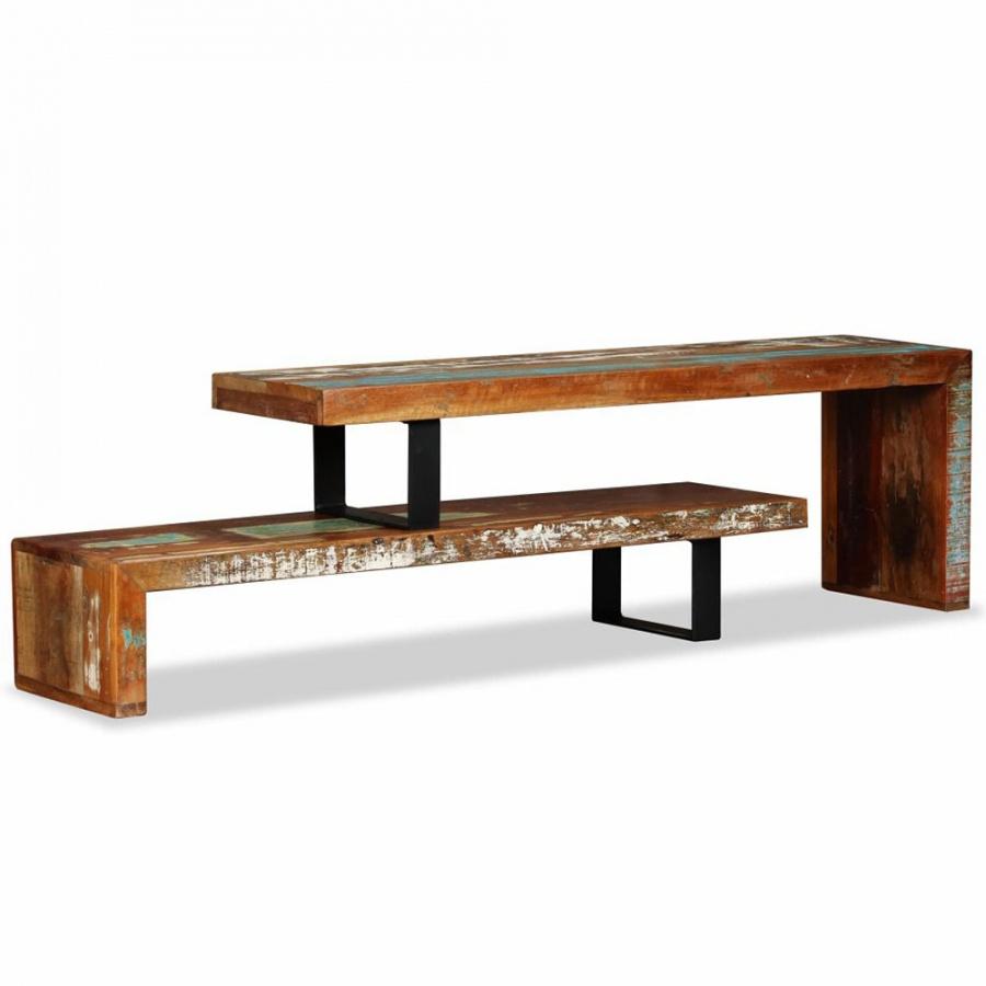 Stolik pod telewizor z litego drewna z odzysku kod: V-244582 + Z NAMI NIE RYZYKUJESZ