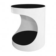 Stolik śr. 55cm King Home Grand czarno-biały