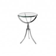 Stolik szklany 67cm King Home Copernicus srebrny/przezroczysty