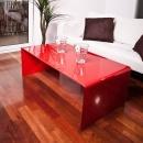 Stolik szklany King Bath Priam A czerwony