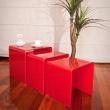 Stolik szklany King Bath Priam Trio czerwony CB-001A.CZERWONY