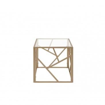 Stolik szklany złoty ORLAND