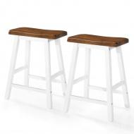 Stołki barowe, 2 szt., lite drewno, 45x23x60 cm